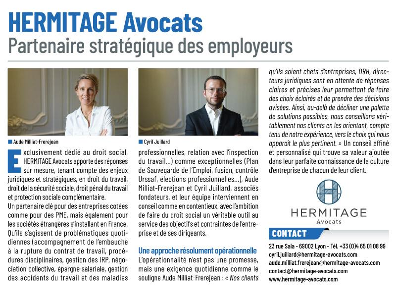 Hermitage Avocats : Partenaire Stratégique Des Employeurs